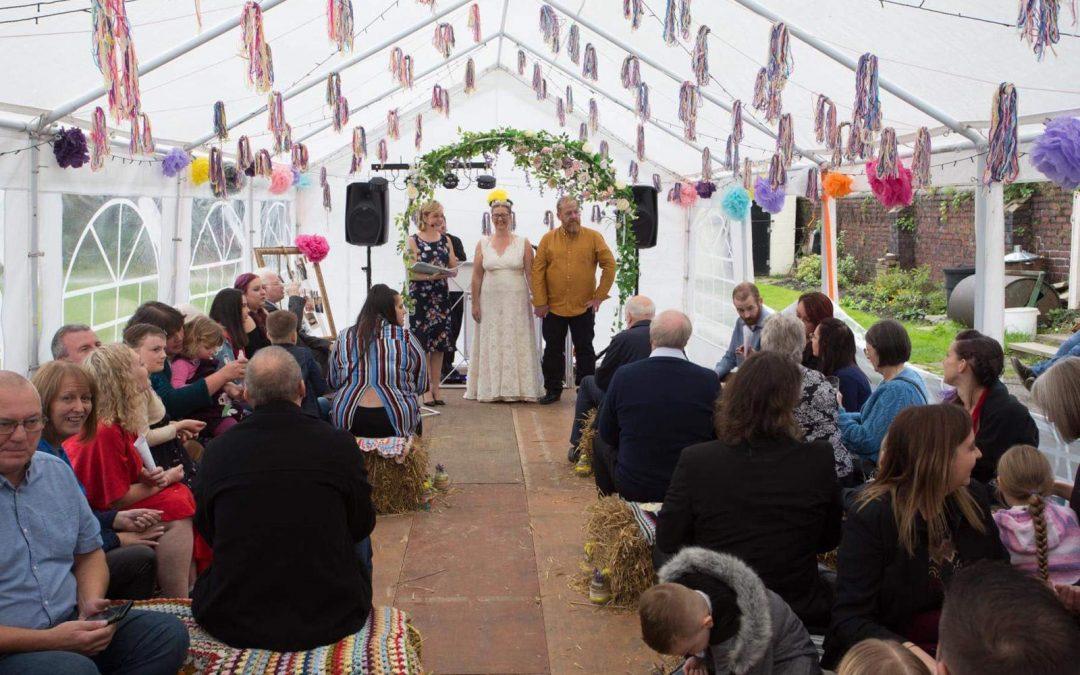 Garden Wedding Vicky and Sean – October 2019